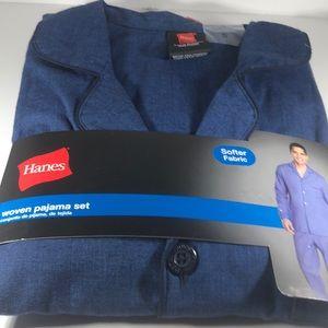 Hanes small woven pajama set